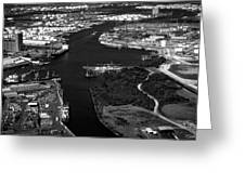 The Houston Ship Channel Greeting Card