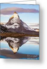 The Matterhorn Mountain In Switzerland Greeting Card