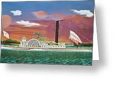 The Steamship Syracuse Greeting Card