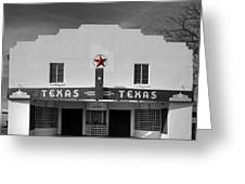 The Texas Theatre Of Bronte Texas Greeting Card