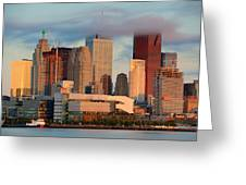Toronto Sunrise Greeting Card