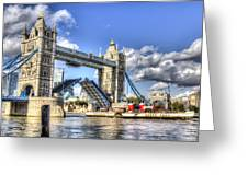Tower Bridge And The Waverley Greeting Card