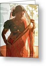 Tribal Beauty Of India Greeting Card