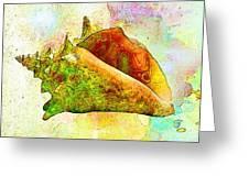 Underwater. Sea Shells Greeting Card