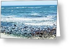 Usa California Pacific Ocean Coast Shoreline Greeting Card