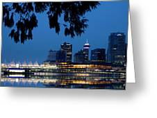 Vancouver Skyline Canada Greeting Card