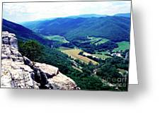 View From Atop Seneca Rocks Greeting Card