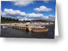 View From The Cobb - Lyme Regis Greeting Card