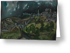 View Of Toledo Greeting Card