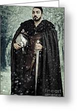 Viking Warrior With Sword Greeting Card