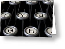 Vintage Typewriter Keys Close Up Greeting Card