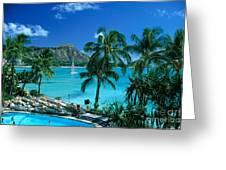Waikiki And Diamond Head Greeting Card