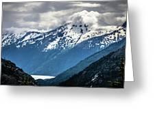 White Pass Mountains In British Columbia Greeting Card