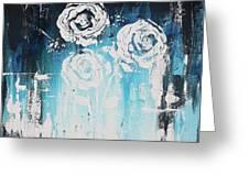 3 White Roses Greeting Card
