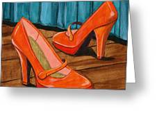 Who Wears These Shoes Greeting Card