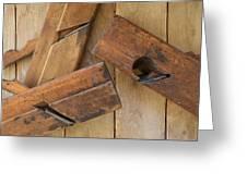 3 Wood Planes Greeting Card