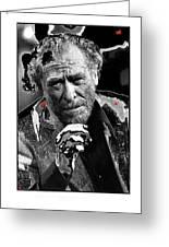 Writer Charles Bukowski On Tv Show Apostrophes September 1978-2013 Greeting Card