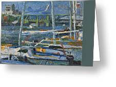 Yachts Greeting Card