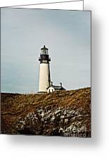 Yaquina Head Lighthouse - Toned By Texture Greeting Card