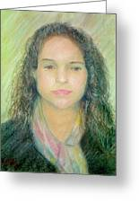 Young Woman Greeting Card