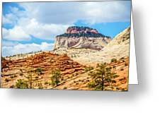 Zion Canyon National Park Utah Greeting Card