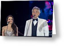 Andrea Bocelli In Concert Greeting Card