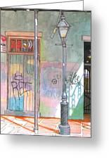 30  French Quarter Graffiti  Greeting Card