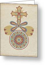 "Santa Barbara Mission Doorway Design From The Portfolio ""decorative Art Of Spanish California"" Greeting Card"