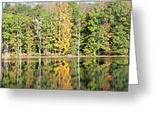 3007-fall Waterscape Greeting Card