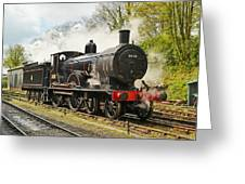 Steam Train At Rest. Greeting Card