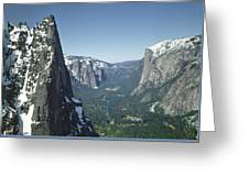 306754 Yosemite Valley From Union Point  Greeting Card