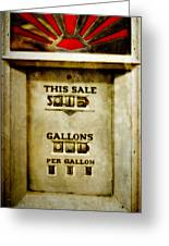 31 Cents A Gallon Greeting Card