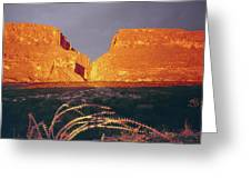 317828 Sunrise On Santa Elena Canyon  Greeting Card