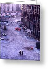 World Trade Center Under Construction 1967 Greeting Card