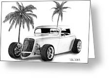 33 Ford Coupe Greeting Card