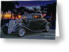 33 Ford On The Mexico Beach Greeting Card
