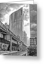 333 W Wacker Drive Black And White Greeting Card