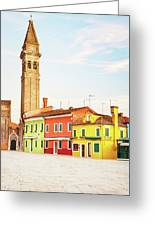 Burano Italy Greeting Card