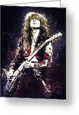Jimmy Page. Led Zeppelin. Greeting Card