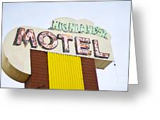 Route 66 Cars Cafes Restaurants Hotels Motels Greeting Card
