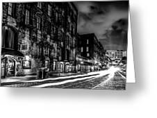 Savannah Georgia Waterfront And Street Scenes  Greeting Card