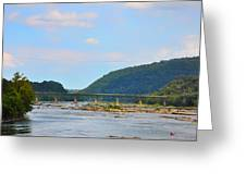 340 Bridge Harpers Ferry Greeting Card by Bill Cannon