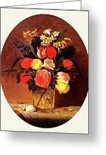bs-flo- James Henry Wright- Flower Still Life James Henry Wright Greeting Card