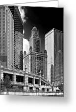 35 East Wacker Chicago - Jewelers Building Greeting Card