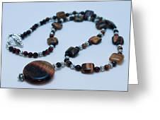 3516 Tiger Eye Necklace  Greeting Card