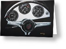 356 Porsche Dash Greeting Card