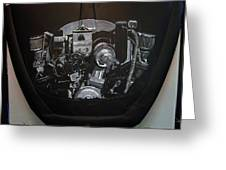 356 Porsche Engine On A Vw Cover Greeting Card