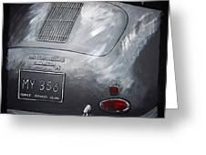 356 Porsche Rear Greeting Card