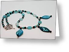 3564 Shell And Semi Precious Stone Necklace Greeting Card