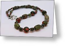 3579 Unakite Necklace  Greeting Card
